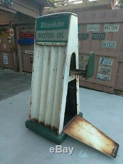 1950's double sided vintage oil can display rack
