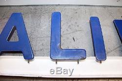 1950s Original Standard Oil of California Porcelain Letter Marquee Vintage Sign