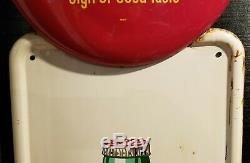1952 metal Coca Cola pilaster sign 3 color 16 button original vintage gas oil