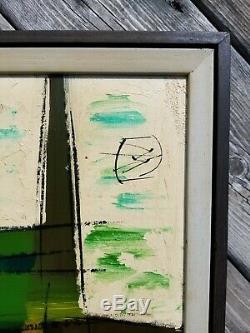 (2) VTG/Mid-Century Modern VanGuard Studios ABSTRACT Signed/Framed Oil Paintings