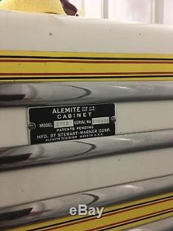 Alemite Equipment Shell Metal Vintage Mechanics and Oil Gas Dispenser Cabinets
