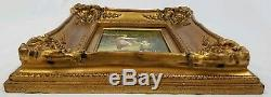 Antique Vintage Oil Painting boy pushing girl on swing Signed Framed