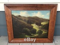 Antique Vintage Signed G. A. California Landscape Plein Air Oil Painting