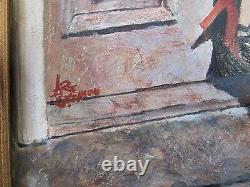 Arthur Beeman Sexy Risque Female Seductress Pinup Style Satire Painting Vintage