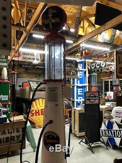 Early OLD G&B Visible SIGNAL GAS PUMP Vintage Antique Model T A Oil Sign Garage