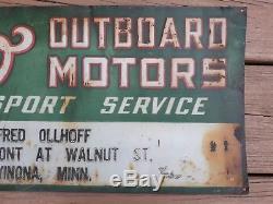 Elto Outboard Motor Metal Tin Sign Fishing Lure Rod Reel Johnson Heddon Gas Oil