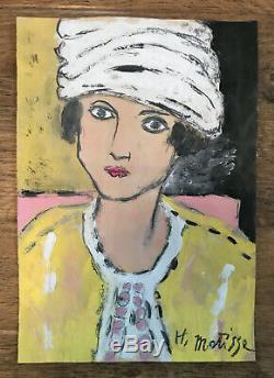 Henri Matisse Original Oil Painting Signed Female Portrait