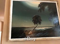 JAMES GIBSON (Dec'd) HOF FLORIDA HIGHWAYMEN SIGNED VINTAGE OIL ON UPSON BOARD