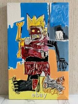 Jean Michel Basquiat Artist Oil Painting On Canvas Signed