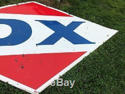 LARGE ORIGINAL Vintage DX Porcelain SIGN Gas Station Oil Nice OLD Wall Hanger
