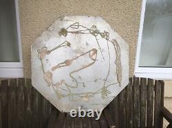LARGE VINTAGE SHELL LUBRICATION SIGN Shell Motor Oil Sign