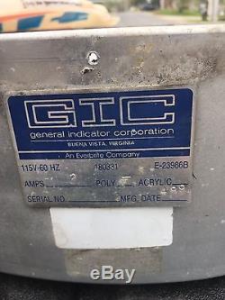Large Vintage Gulf Gas Station Gasoline Motor Oil 28 Lighted Sign, Original