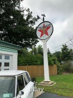 Large vintage Texaco oil and gasoline service station full size banjo sign