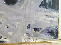 MID CENTURY VINTAGE ABSTRACT EXPRESSIONIST ACTION PAINTING New York Signed 1979