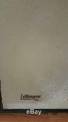 Mid-Century 1960s Rare Vintage Oil Canvas Pelicans Signed Letterman