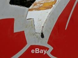 Mobil Oil Pegasus Original Vintage Cookie Cutter Metal Enamel Gas Station Sign