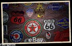 Mobilgas Mobil Gas Oil Red Pegasus Metal Steel Sign Large 37 Vintage Garage