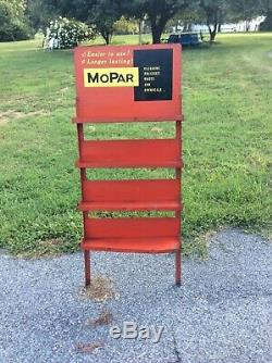 Mopar Service Sign oil can display Gas Service Station cleaners waxes dodge vtg