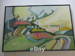 Mueller Painting 1970 Abstract Expressionism Landscape Modernism Vintage Unique