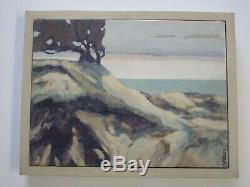 Nelson Signed Vintage California Painting American Impressionist Coastal Beach
