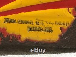 ORIGINAL 1920's VinTaGe SHELL 2 Sided Sign Old PATINA! Gas Oil PORCELAIN Station
