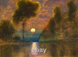 Oil Painting Landscape Western Vintage Antique Impressionist Turner MAX COLE