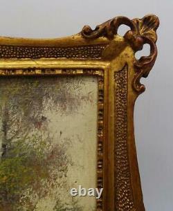 Oil Painting on Board, Two, SGN, Landscapes, Gilt Frames, Vintage / Antique