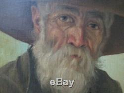 Old Masterful Portrait Painting Signed Mystery Morales Antique Vintage 1920's