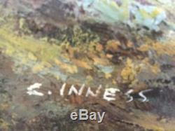 Original C. Inness, Large landscape painting, Clara Inness 1874-1932, Renowned