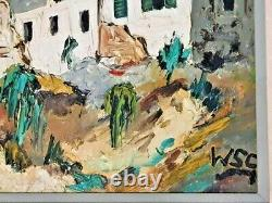 Original Signed WINSTON S. CHURCHILL Framed Oil Painting on Canvas Windmills WSC