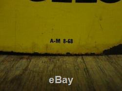 Original Vintage 1968 Pennzoil Motor Oil Gas Station 2 Sided 31 Metal Sign