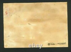 Original vintage rare oil paint on paper! Pablo Picasso hand signed-framed