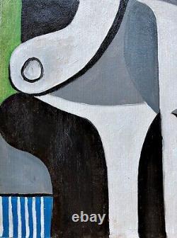 Pablo Picasso Antique Original vintage art oil painting hand signed