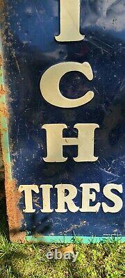 Porcelain Goodrich Tires Collectable Vintage Gas Oil sign antique