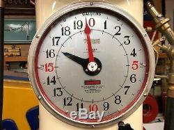 RARE Vintage TOKHEIM 850 CLOCKFACE GAS PUMP in GILMORE LION Station OLD Oil Sign