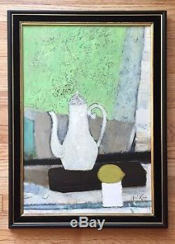 RENE GENIS French Artist Original Signed Vintage Mid Century Oil Painting LISTED