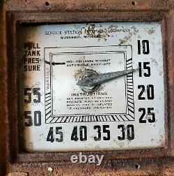 Rare Vintage ECO Air Meter Service Station Air Tire Pump Model 37 Gas Oil Sign