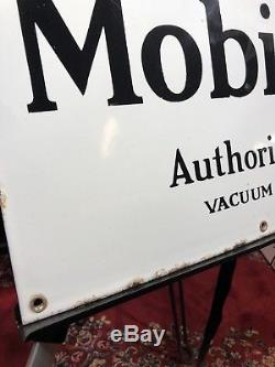 Rare Vintage ORIGINAL 30s Gargoyle Mobiloil Oil Mobil Porcelain Sign Gas Shop 8