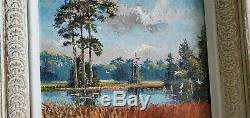 Signed vintage Florida Highwaymen Painting Sam- S, Newton Florida Backcountry