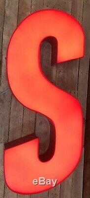 Sinclair large lighted letters gas oil sign vintage mancave garage gas station