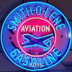Smith-o Lene Gasoline Neon Sign Vintage Design Metal Decor Gas&Oil Sign 24 X24