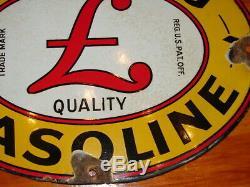 Sterling Gasoline Vintage Porcelain Oil Gas Pump Plate Sign Advertising Petrol