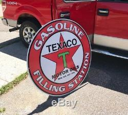 Texaco Gas Oil Sign 42 Very Large Advertising Vintage Look Pegasus Mobile
