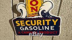 VC Vintage Concepts Beacon Security Gasoline Lighthouse Porcelain Sign Gas Oil