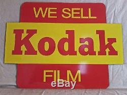 VINTAGE 1960's WE SELL KODAK FILM CAMERA GAS OIL 24 METAL SIGNNICE