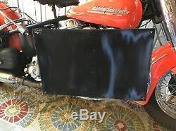VINTAGE PORCELAIN GARGOYLE MOBILOIL D MOTORCYCLE OIL Harley Indian Triumph BSA