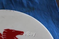 VINTAGE ROUND 12 1/2 PEGASUS MOBIL OIL SIGN Plastic