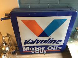 Valvoline Neon Vintage Sign Hard Plastic Light Motor Rare Oil Gasoline Large