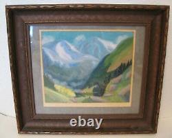 Vintage 1920's Artist Signed Oil Painting Beautiful Landscape Pueblo Colorado