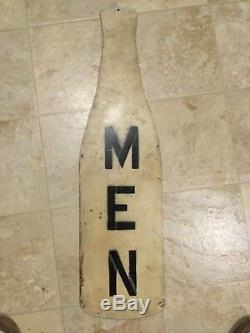 Vintage 1936 Royal Crown Cola Nehi Bottle Sign Mens Bathroom Sign Gas Oil Soda